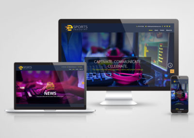 eSports - Website design and devlopment